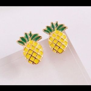 💥3 for $23💥Yellow & Green Pineapple Studs